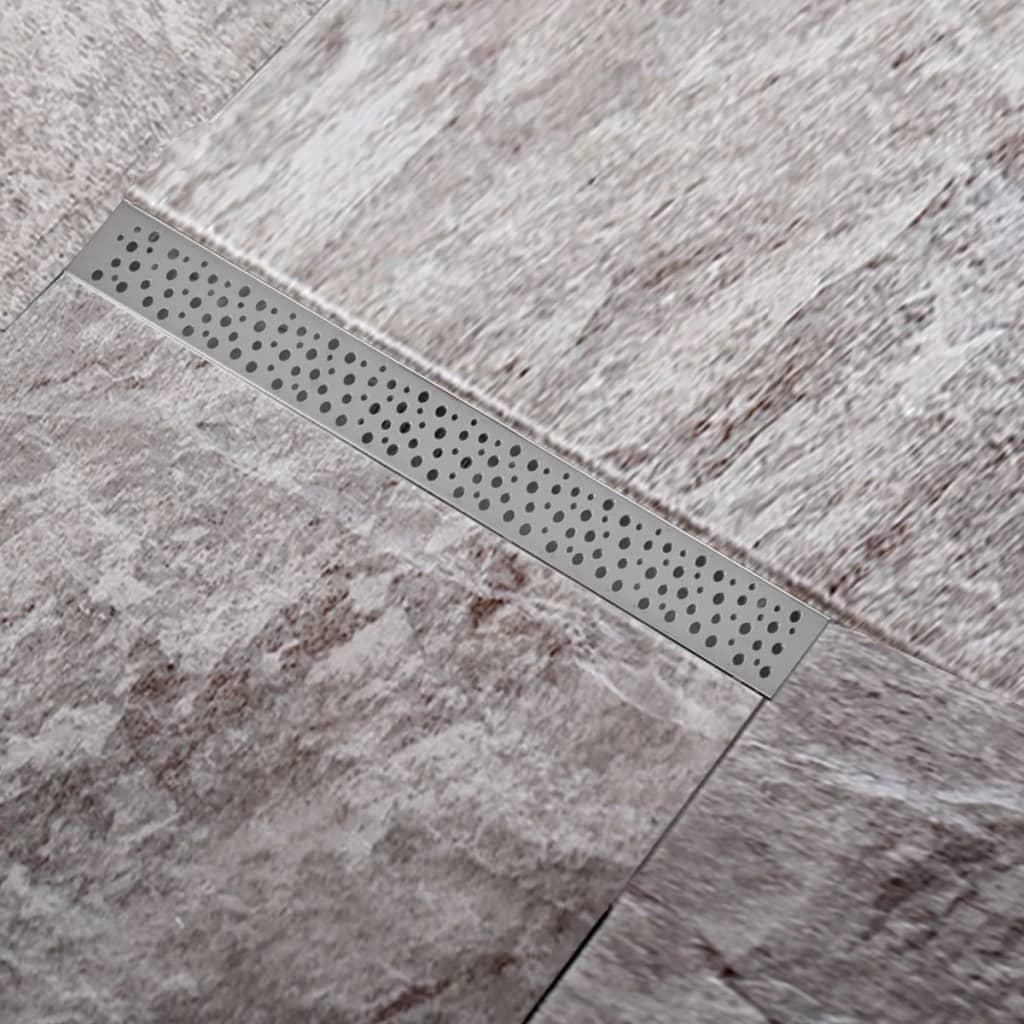 Rigolă liniară pardoseală duș din oțel inoxidabil, bule, 740 x 110 mm imagine vidaxl.ro
