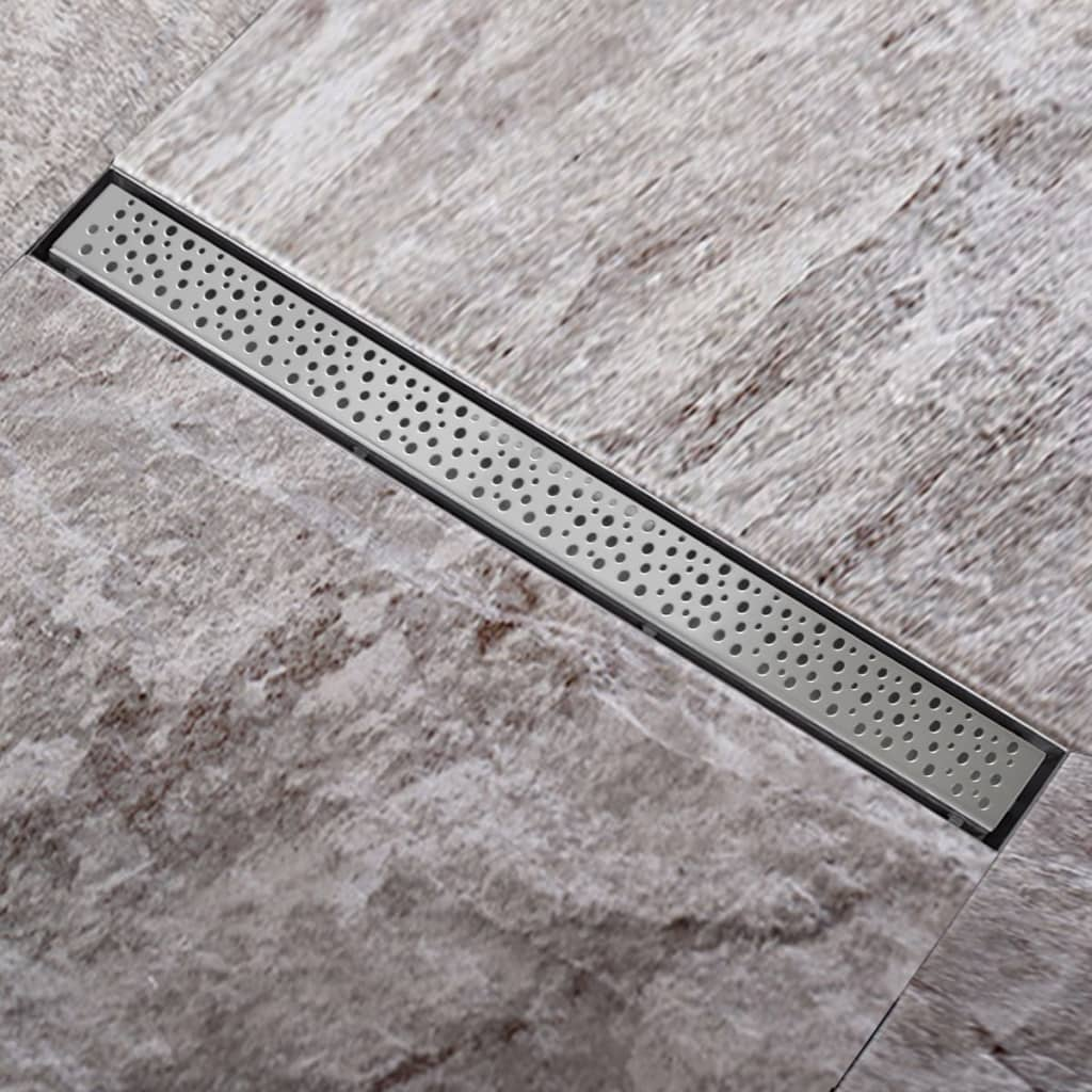 Sprchový podlahový žlab odtokový z nerezové oceli, bubliny 940 x 110mm
