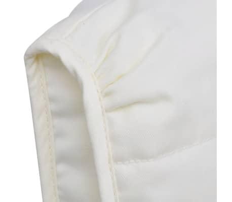 vidaXL Scaun balansoar, cadru curbat, material textil, reglabil, crem[4/8]