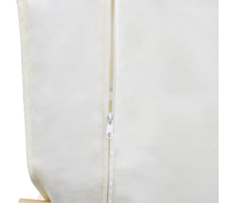 vidaXL Fotel bujany z giętą ramą, materiałowy, regulowany, kremowy[6/8]