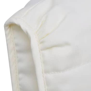 vidaXL Fotel bujany z giętą ramą, materiałowy, regulowany, kremowy[4/8]