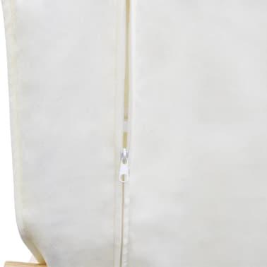 vidaXL Scaun balansoar, cadru curbat, material textil, reglabil, crem[6/8]