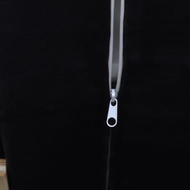 vidaXL Houpací křeslo s rámem z ohýbaného dřeva polohovatelné černé[7/8]
