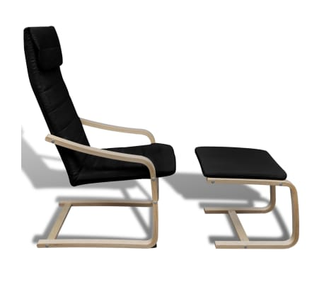 sessel mit fu hocker bugholz schwarz g nstig kaufen. Black Bedroom Furniture Sets. Home Design Ideas