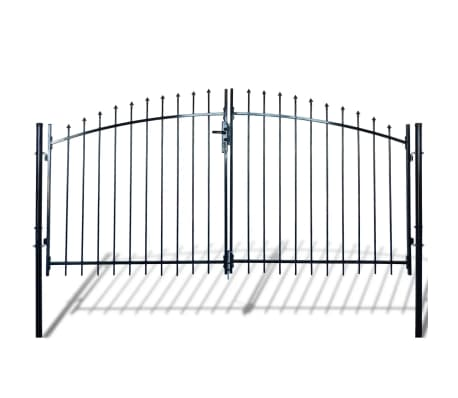 Double Door Fence Gate with Spear Top 10' x 5'[1/6]
