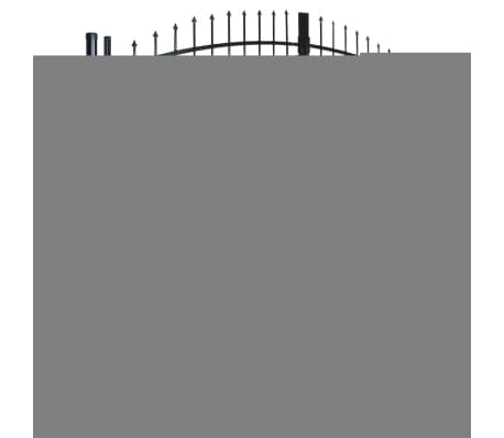 Double Door Fence Gate with Spear Top 10' x 5'[2/6]