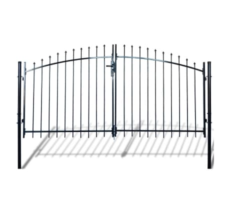Double Door Fence Gate with Spear Top 10' x 6'[1/6]