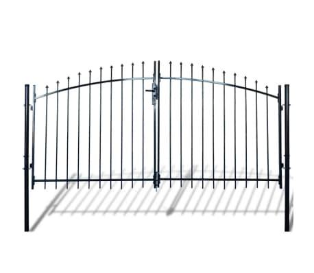 vidaXL Dvigubi tvoros vartai su iečių viršugal. 300 x 200 cm[1/6]