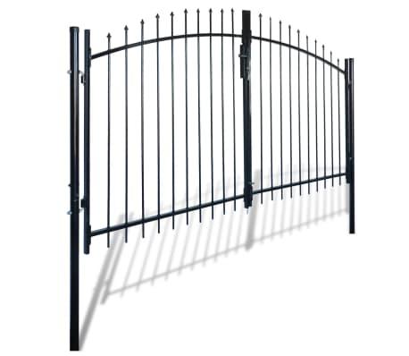 vidaXL Dvigubi tvoros vartai su iečių viršugal. 300 x 200 cm[2/6]