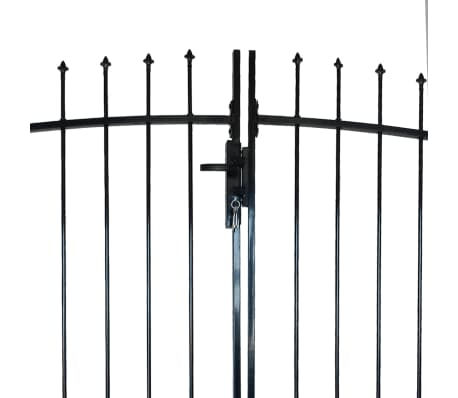Double Door Fence Gate with Spear Top 10' x 6'[3/6]