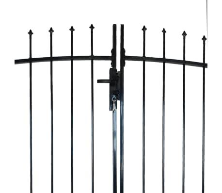 vidaXL Dvigubi tvoros vartai su iečių viršugal. 300 x 200 cm[3/6]