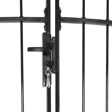 vidaXL Dvigubi tvoros vartai su iečių viršugal. 300 x 200 cm[4/6]