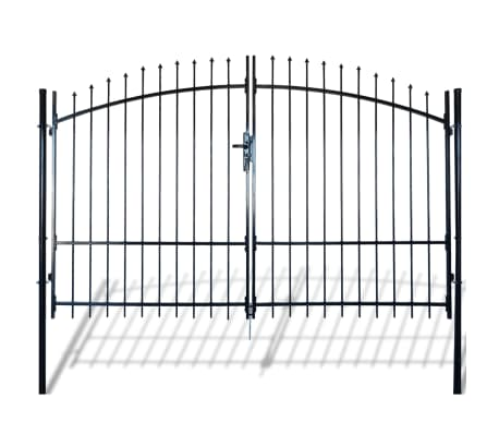 Double Door Fence Gate with Spear Top 10' x 7'[1/6]