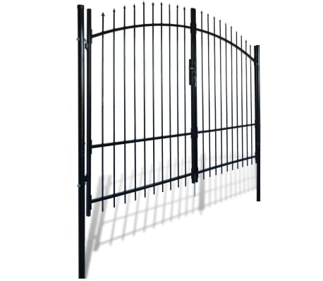 Double Door Fence Gate with Spear Top 10' x 7'[2/6]