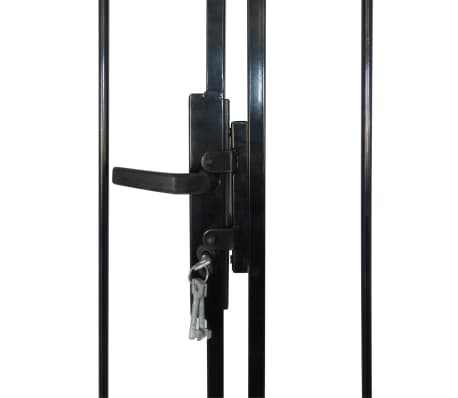 Double Door Fence Gate with Spear Top 10' x 7'[4/6]