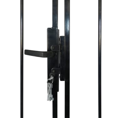 Double Door Fence Gate with Spear Top 10