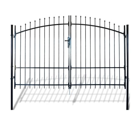 Double Door Fence Gate with Spear Top 10' x 8'[1/6]