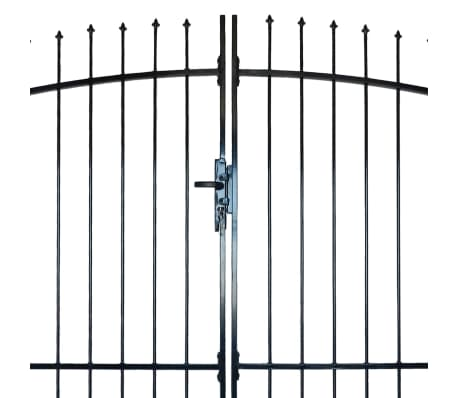 Double Door Fence Gate with Spear Top 10' x 8'[3/6]
