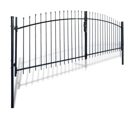 Double Door Fence Gate with Spear Top 13' x 5'[2/6]