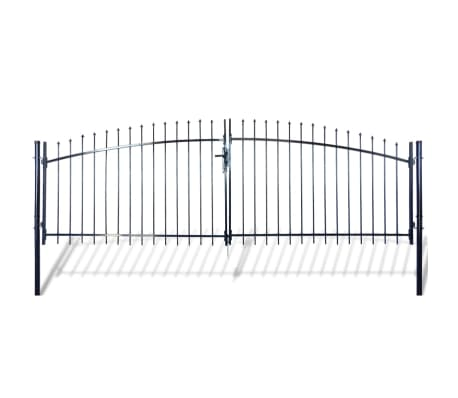 Double Door Fence Gate with Spear Top 13' x 6'