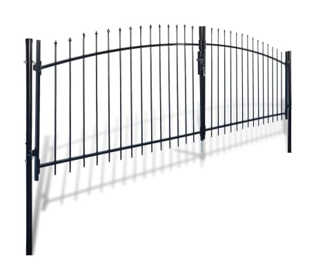 Double Door Fence Gate with Spear Top 13' x 6'[2/6]