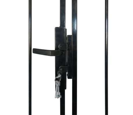 Double Door Fence Gate with Spear Top 13' x 6'[4/6]