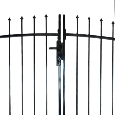 Double Door Fence Gate with Spear Top 13