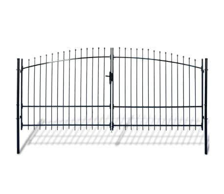 Double Door Fence Gate with Spear Top 13' x 7'[1/6]