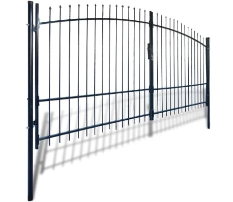 Double Door Fence Gate with Spear Top 13' x 7'[2/6]