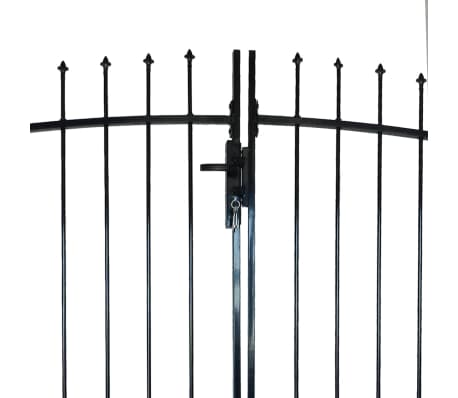 Double Door Fence Gate with Spear Top 13' x 7'[3/6]