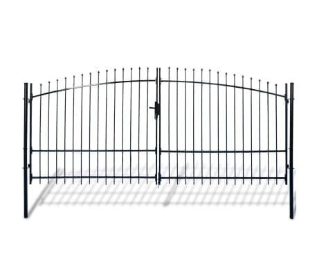 Double Door Fence Gate with Spear Top 13' x 8'[1/6]