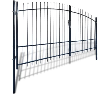 Double Door Fence Gate with Spear Top 13' x 8'[2/6]