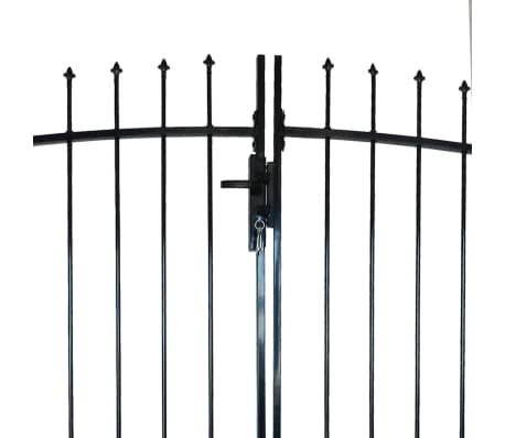 Double Door Fence Gate with Spear Top 13' x 8'[3/6]
