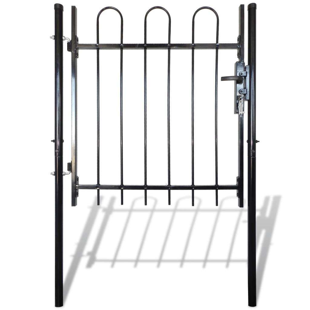 Jednokřídlá plotová branka s obloučky nahoře 100 x 100 cm