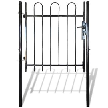 """Single Door Fence Gate with Hoop Top 39.4""""x39.4""""[3/4]"""