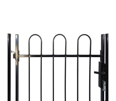 """Single Door Fence Gate with Hoop Top 39.4""""x47.2""""[4/4]"""