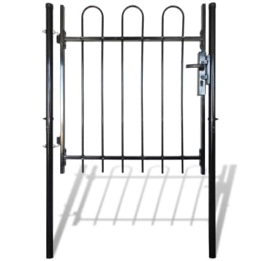 """Single Door Fence Gate with Hoop Top 39.4""""x47.2""""[2/4]"""