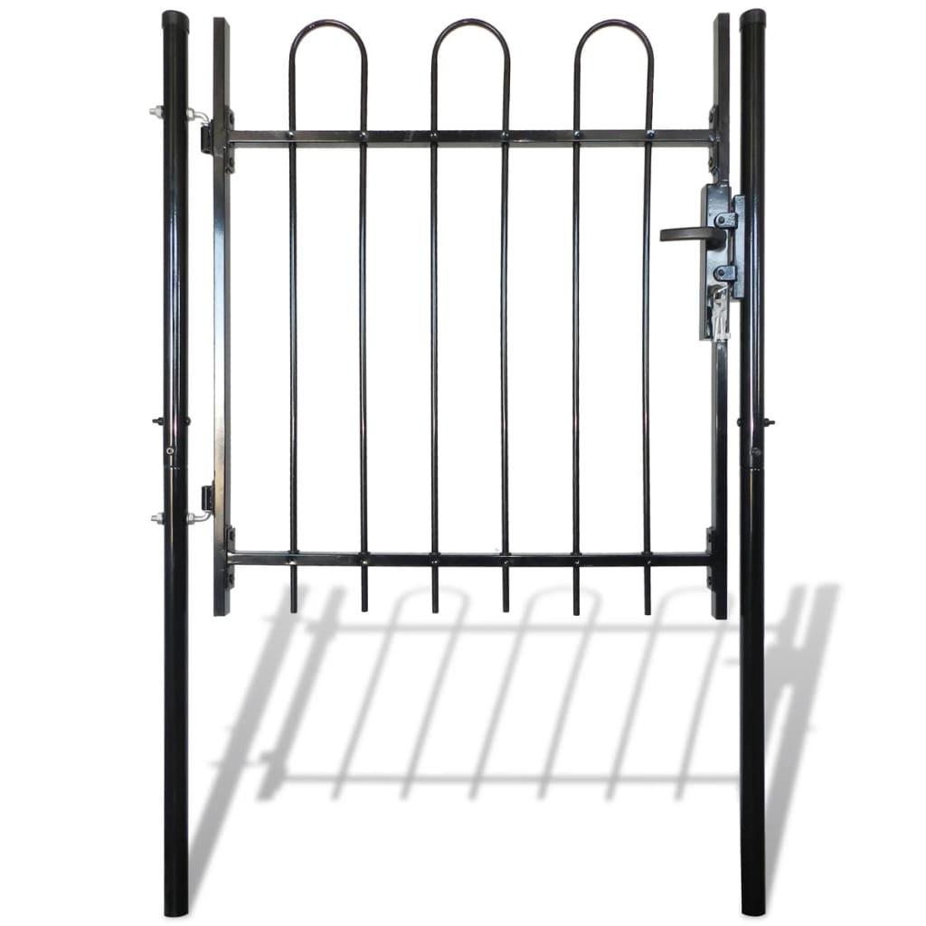 Jednokřídlá plotová branka s obloučky nahoře 100 x 150 cm