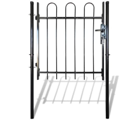 "Single Door Fence Gate with Hoop Top 39.4""x59""[1/4]"