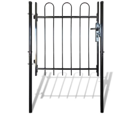 "Single Door Fence Gate with Hoop Top 39.4""x59""[2/4]"