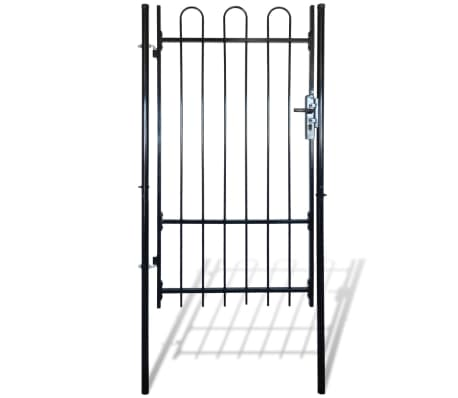 "Fence Gate with Hoop Top (single) 39.4""x68.9""[1/4]"