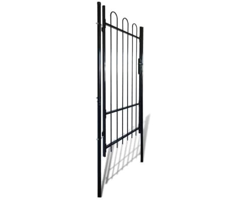 """Fence Gate with Hoop Top (single) 39.4""""x68.9""""[2/4]"""