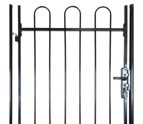"Fence Gate with Hoop Top (single) 39.4""x68.9""[4/4]"