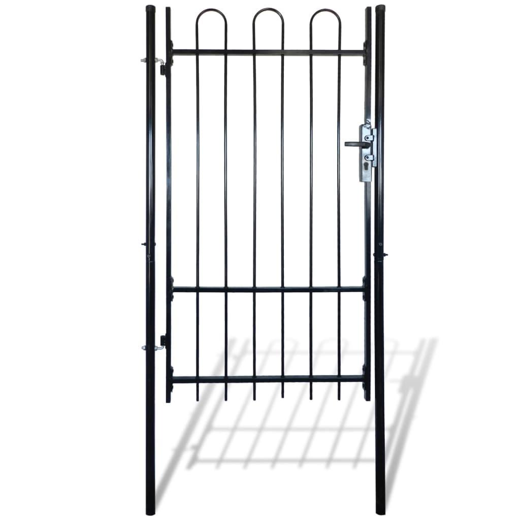 Jednokřídlá plotová branka s obloučky nahoře 100 x 198 cm