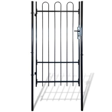 "Fence Gate with Hoop Top (single) 39.4""x78""[1/4]"