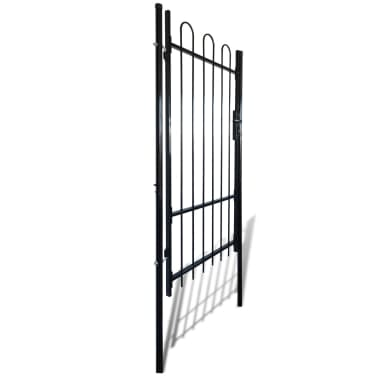 "Fence Gate with Hoop Top (single) 39.4""x78""[2/4]"