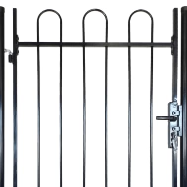 "Fence Gate with Hoop Top (single) 39.4""x78""[4/4]"