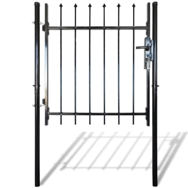 "Single Door Fence Gate with Spear Top 39""W x 59""H[1/6]"