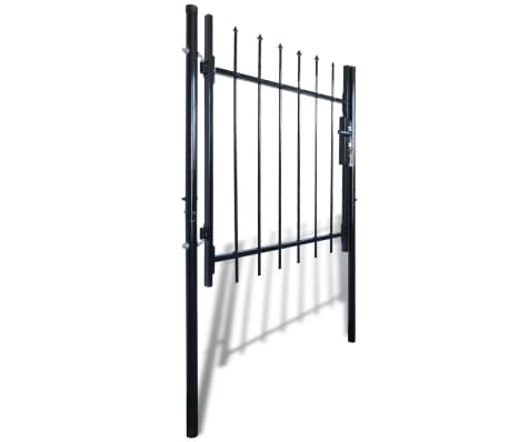 "Single Door Fence Gate with Spear Top 39""W x 59""H[2/6]"