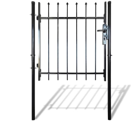 "Single Door Fence Gate with Spear Top 39""W x 59""H[3/6]"